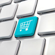 Shopping cart computer key