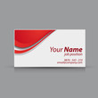 Red vector business card