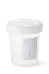 Sterile medical container for biomaterial