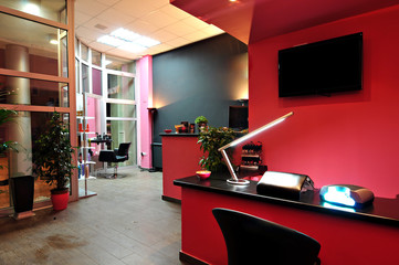 luxury beauty salon interior