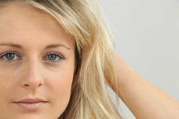 Portrait of pretty blond girl