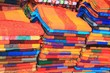 Woven fabric at a Mexican craft market