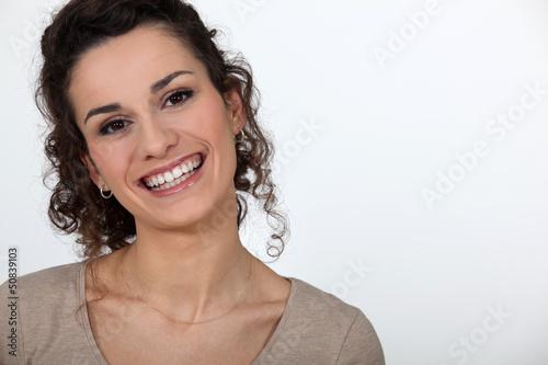 Brunette grinning