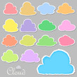 Torn paper cloud Icons