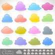 Colorful cloud Icons