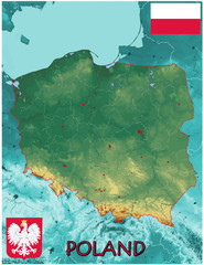 Poland Europe national emblem map symbol motto