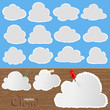 Cloud Icons and Symbols collection