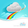 Rainbow and   Cloud