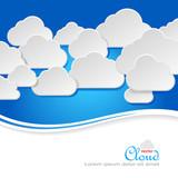 Paper Clouds in blue sky