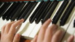 Piano, hands of a piano player , seamless loop