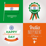 happy independence day india cards with fonts