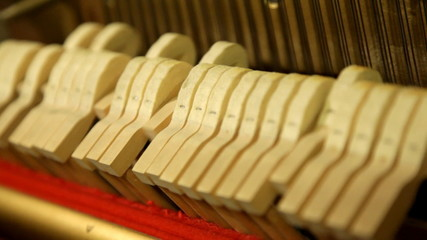 Piano, In the piano - work of hammers, seamless loop