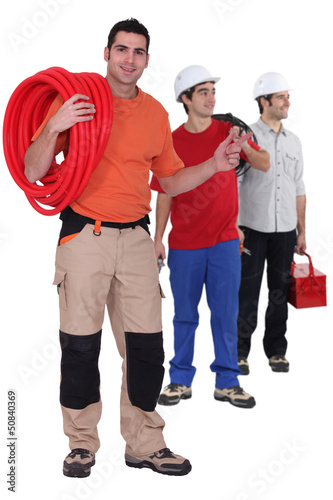 Plumber, electrician and builder