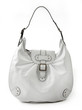 White leather luxury handbag