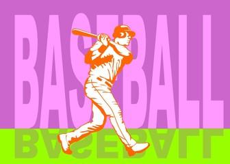 Baseball hit poster
