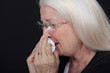 elderly woman crying