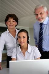 Bosses with secretary
