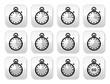 Time, clock, stopwatch vector buttons set