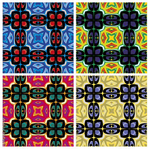 Set of artistic African textile designs