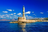 travel in Greece series - Chania old port,lighthouse