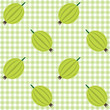 Checked pattern with gooseberry