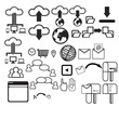 User Interface icon set vector
