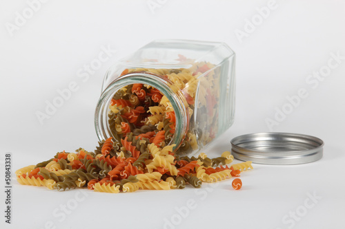 Jar of pasta twists