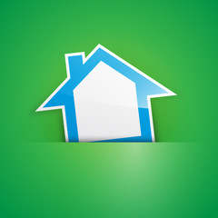 Vector Logo blue house