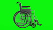 invalid chair loop rotate on green chromakey background