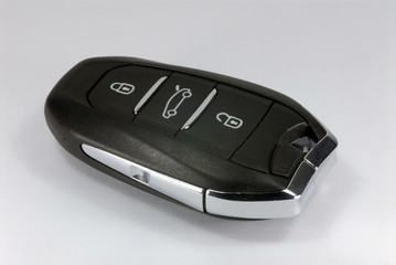 black car key with remote central locking