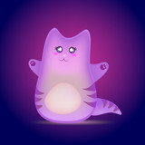 Cute cartoon cat vector