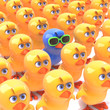 Blue chick stands out in the Easter crowd