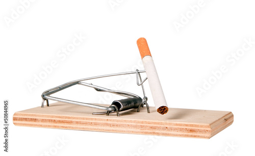 A mouse trap with cigarette