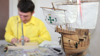 Hobby - model ship assembly kit