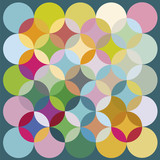 Vector print of round elements great colors - 50845572