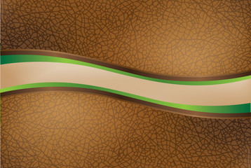 Curved leather texture for header or footer