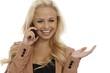 Beautiful woman talking on mobile