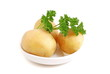 Raw potatoes with parsley