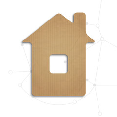 House cut out of cardboard