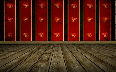 Tapetenraum - Rote Wand