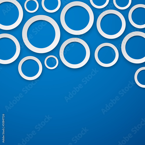 Paper white round bubbles background.