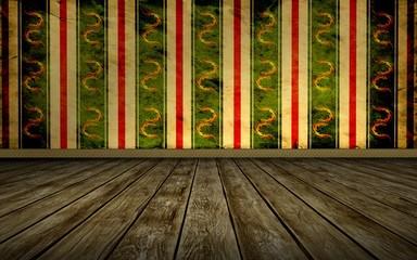 Tapetenraum - Grünes Muster