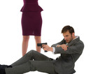 bodyguard protects the woman poster