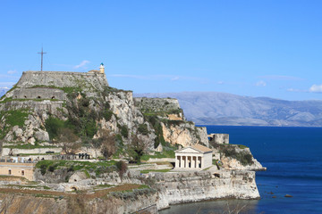 Old fortress in Corfu, Greece