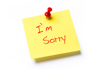 I'm Sorry note