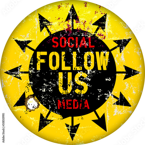 follow us sign, social networks,vctor illustration