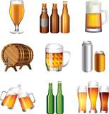 Fototapety beer photo-realistic vector set