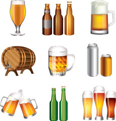 beer photo-realistic vector set