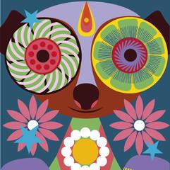 Prportrait  of a charming lemur