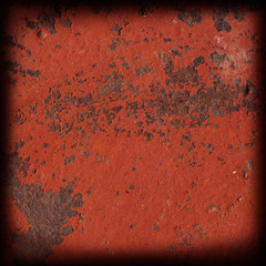 red rusty metal surface